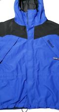 Marmot Mens Large Royal Blue and Black Full Zip Gore-Tex Jacket With Hood
