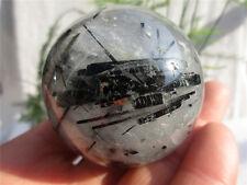 Black tourmaline in Smoky Quartz Sphere Crystal Ball Brazil 247g 55mm