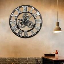 Runde Wanduhr Wohnzimmer Uhr Designuhr Römischen Ziffern Dekouhr Vintage ✅Ø40cm