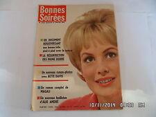 BONNES SOIREES N°2083 14 JANV 1962 JEAN MARAIS CINE ROMAN PHOTOS B.DAVIS     G47
