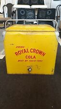 "RARE VINTAGE ""DRINK ROYAL CROWN COLA""  COOLER"