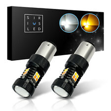 SiriusLED 2 Pack 7528 1157 LED Light Bulbs Switchback Dual White Yellow 800Lumen