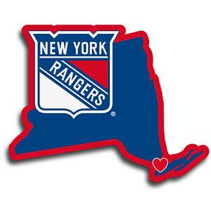 New York Rangers Home State Vinyl Auto Decal (NHL) New York Shape