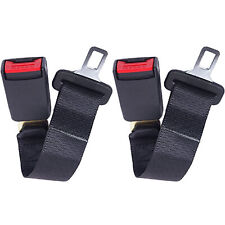 "2Pcs 14"" Car Seat Seatbelt Safety Belt Extender Extension 7/8"" Buckle Universal"