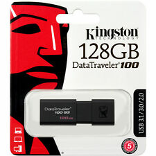 KINGSTON 128GB Data traveler 100 G3 USB 3.1 Flash Drive DT100G3 Memory Stick