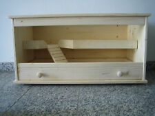 Holz Hamster Käfig aus Holz 2 Etagen 80 cm x 40 cm x 40 cm