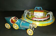 Vintage Tin wind up toys Marx Honeymoon Express & Paya Bugatti