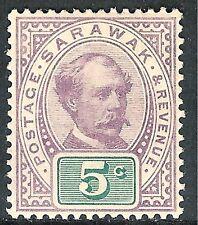 Sarawak 1888 purple/green 5c mint SG12