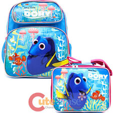 Finding Dory 12in School Backpack Lunch Bag Nemo 2pc Book Bag Set - Pink Coral