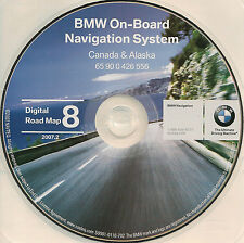 2002 BMW 745i 745Li NAVIGATION MAP NAV CD 8 CANADA ALASKA BC AB SK MB NS ON QC