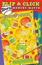 Flip and Click Sports Memory Match 3+ BONUS GAME PUZZLE NEW PAPERBACK FREE SHIP!