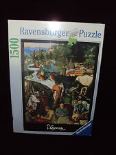 RAVENSBURGER 1500 PC PAUL CEZANNE PUZZLE NEW IN SEALED BOX #16 298 7