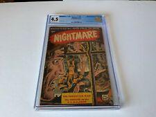 NIGHTMARE 12 CGC 4.5 KUBERT BONDAGE TORTURE COVER PRE CODE HORROR ST JOHN COMIC