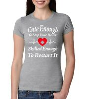T-Shirt Nurse Funny Calm Tee Gift  Heart Rn Nursing Women Nurses And Doctor Tee