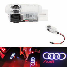 2x LED For Audi A4 A6 A8 Q7 Logo Shadow Light Projector Car Door Courtesy Laser