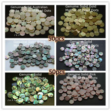 50pcs,1.5-12mm Abalone & Mother of Pearl Inlay Dots for Guitar Banjo Ukulele