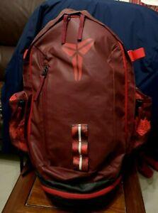 Kobe Mamba XI Backpack Basketball Bag Red rare