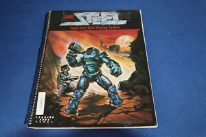 LIVING STEEL. HIGH-TECH ROLE PLAYING SYSTEM. 1987 LEADING EDGE GAMES