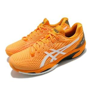 Asics Solution Speed FF 2 David Goffin Amber White Men Tennis Shoes 1041A182-800