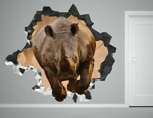 Animal Rhinoceros wall decals stickers mural home decor for bedroom Art AH118