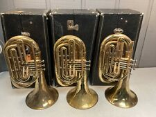 LOT OF 3 BACH MARCHING BARITONES - CLEANED AND SERVICED 13845, 13810, 13807