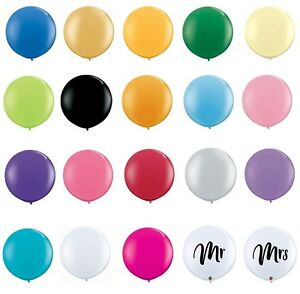 """Qualatex 36""""  Large Round Latex Balloon for Weddings Birthday Party Decor (2pc)"""