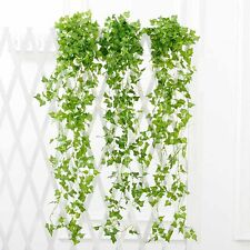 Flower Decor 2.4m Artificial Fake String Leaves Ivy Vine Plants Hanging GarlandS