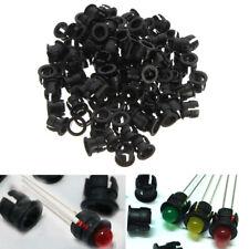 100Pcs 5mm Black Plastic LED Clip Holder Case Panel Bezel Display Cup Mounting