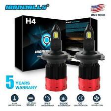 2x H4 9003 HB2 1800W 270000LM CREE LED Headlight Conversion Bulb Kit Hi/Lo 6000K