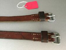 Vintage Swiss Army Leather Straps for Salt & Pepper Rucksack Backpack Luggage
