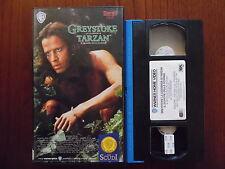 """Greystoke - La leggenda di Tarzan il signore delle scimmie - VHS Warner """"Scudi"""""""