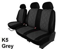 VOLKSWAGEN T5 2003-2015 ECO LEATHER TAILORED SEAT COVERS EMBOSSED MADE TO MEASUR