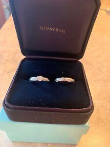 TIFFANY & Co ETOILE PLATINUM ROUND DIAMOND ENGAGEMENT RING .41 CT