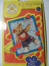 6 packs of Build a Bear Workshop, Pin the Heart on the Bear, Birthday Party Game