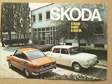 Prospectus Auto SKODA  S100 S110   brochure catalogue prospekt car