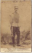 Portrait d'un officier militaire Numa Blanc Cannes Monte-Carlo Vintage