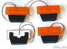 4 pcs 12v 4 LED Side Marker Orange Amber Lights for Iveco Mercedes Fiat Renault