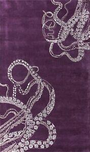 Octopus Tail Purple Modern Style Handmade Tufted 100% Woolen Rugs & Carpet