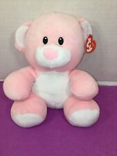 "NWT-9"" TY Baby - PRINCESS the Pink Bear - MWMTs BabyTY Plush"