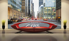 Photo Wallpaper  NY City from Street GIANT WALL DECOR PAPER POSTER FREE PASTE