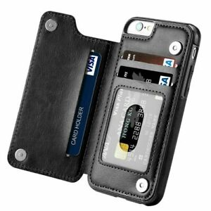Phone Case Cover For iPhone & Samsung Models - Flip Leather card holder wallet