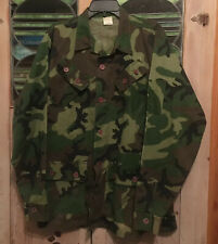 """Camo Jacket Shirt Camouflage Military Green Woods Hunting 26"""" ACROSS CHEST"""