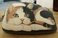 Vintage Sitten Kitty Cat Beanie Plush Calico Kitten Leslie Anderson