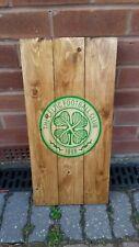 Glasgow Celtic  sign wooden wall art , plaque , badge rustic mancave