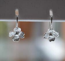 Sterling Silver 925 Flower Drop Earrings