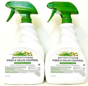 2 Ct Whitney Farms 32 Oz Weed & Grass Control Fast Acting Results In Hours Spray