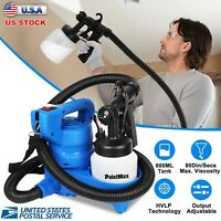 New Electric HVLP Paint Sprayer Gun Spray Pattern 800mL 3-ways Nozzle for Home