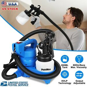 650W Electric HVLP Paint Sprayer Gun Spray Pattern 800mL 3-ways Nozzle for Home