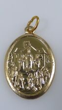 Vintage Our Lady of Knock I Have Prayed For You Catholic Medal Gold Tone