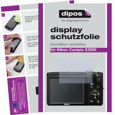 2x Nikon Coolpix S2600 screen protector protection guard crystal clear